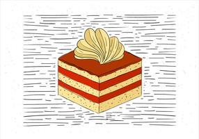 fri handritad vektor bit tårta illustration