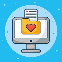 Online-Gesundheitstechnologie über Desktop-Computer