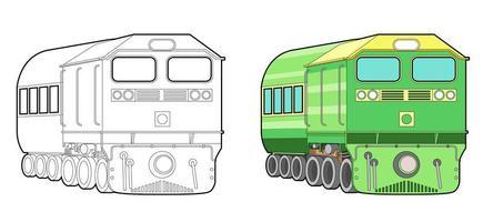 tåg tecknad målarbok för barn