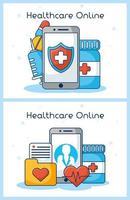 online sjukvårdsteknik vektor