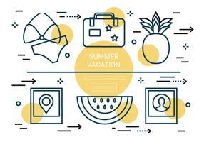 Kostenlose Linear Sommer Urlaub Vektor Elemente