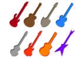 Set Gitarrenkoffer Icons vektor