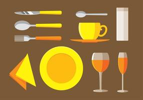 Servett Set Gratis Vector