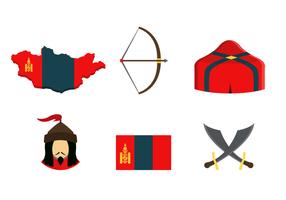 Mongoliska ikoner Gratis Vector Pack