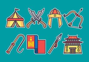 Mongolisches Icon Set