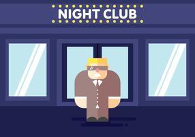 Bouncer bei Club Illustration Vektor