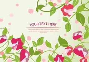 Süße Erbsen-Blumen-Hintergrund-Schablone vektor