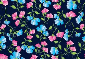 Süße Erbse Blumen Muster vektor