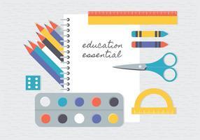 Gratis platta utbildningsvektorelement vektor