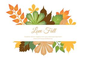Free Flat Design Vektor Herbst Liebe