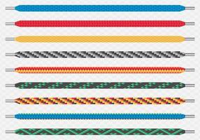 Moderna färgade mönstrade skosnörenpar