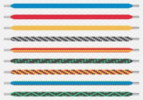 Moderne farbige gemusterte Schnürsenkelpaare vektor