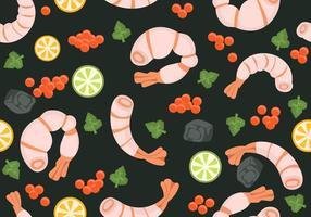 Muster mit Garnelen und Meeresfrüchte Vektor