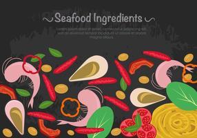 Meeresfrüchte Zutaten mit Nudeln