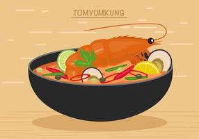Thai Meeresfrüchte Mahlzeit Vektor