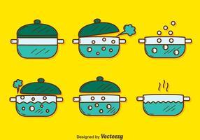 Handdragen kokande vattenvektor vektor