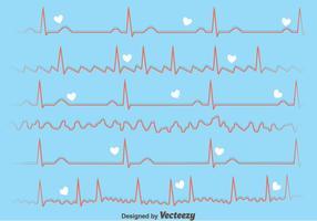 Herz-Rhythmus auf blauem Hintergrund vektor