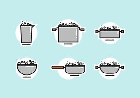 Töpfe mit kochendem Wasser Free Vector Pack
