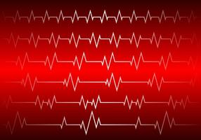 Herz Rhythmus Red Background Free Vector