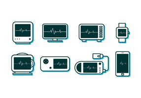 Elektrokardiographie Monitor Freier Vektor