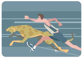 Läufer VS Cheetah Vektor