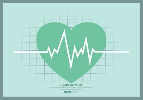 freie Herzrhythmusillustration vektor
