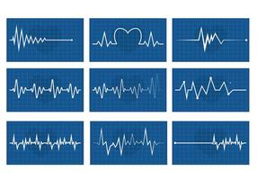 Herz-Rhythmus-Vektor-Set vektor