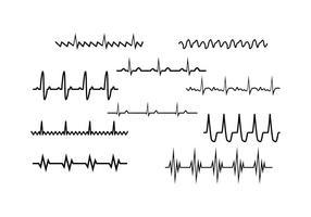 Kostenlose Herz Rhythmus Sammlung Vektor