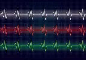 Herz-Rhythmus-Linie