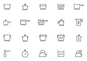 Matlagnings- och kokande vattenvektorer vektor