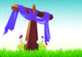 Hintergrund der Fastenzeit vektor