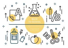 Free Linear Zurück zu Schule Vektor Elemente