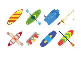 Wassersport verwandte Set Icons vektor