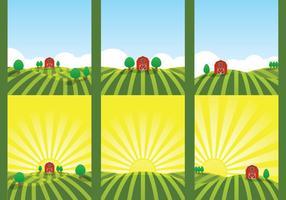 gård fält illustration vektor
