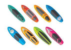 Paddleboard Vector Sammlung