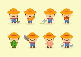Cartoon Bauern Vektor