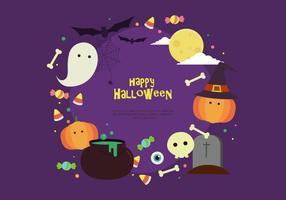 Glad Halloween Bakgrund Vector