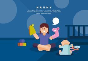 Kindermädchen-Illustration