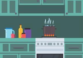 Kochendes Wasser in der Küche Free Vector