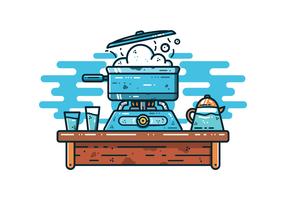 frei kochenden Wasser Vektor
