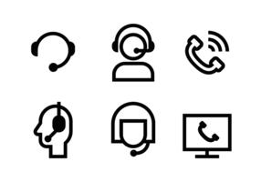 Call Center Icon Vektor