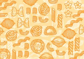 Macaroni Pasta Vektor Muster