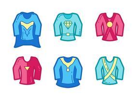 Gratis Kraftfull Super Heroes Vector