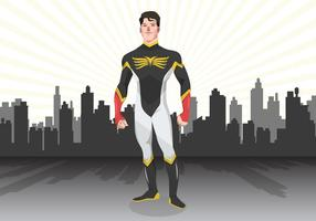 City Superhero Vector