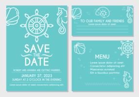 Strand-Hochzeits-Einladungs-Karte