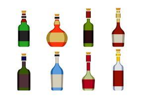 Flaska Med Stoppar Ikon vektor