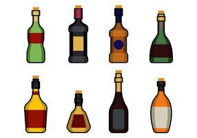 Flasche mit Stopper Icon vektor
