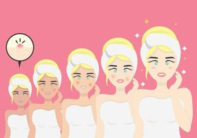 Clean Beauty Process Vector