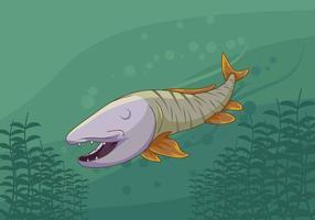 Free Iconic Muskie Fisch Vektoren