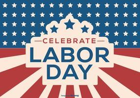 Happy Labor Day Hintergrund vektor
